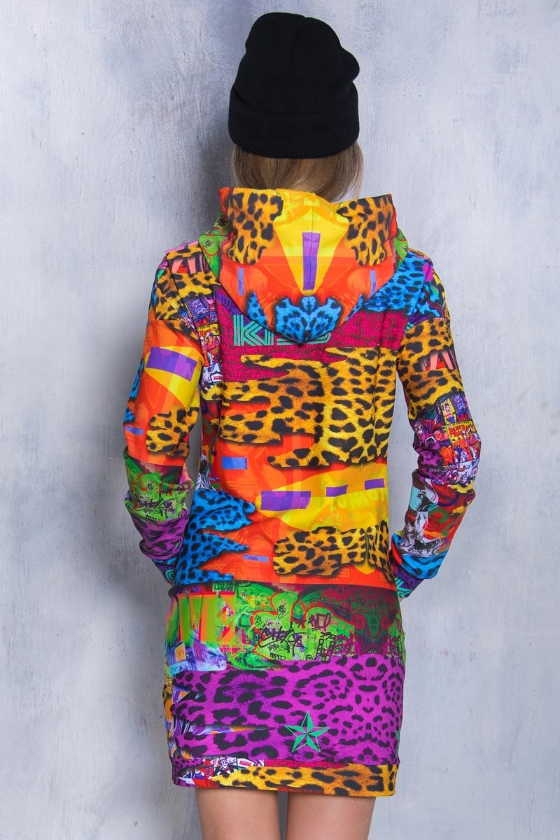 Safari Hoodie Dress Close View