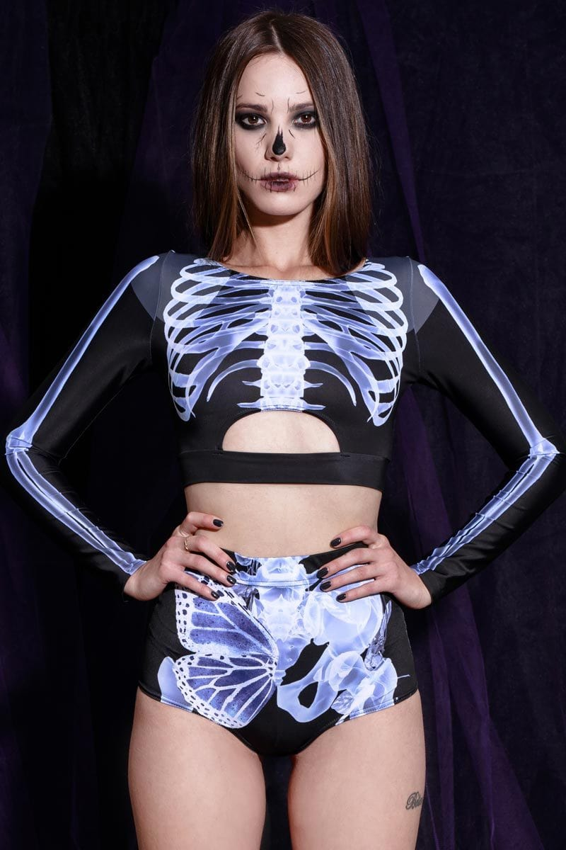 Skeleton High Waisted Shorts