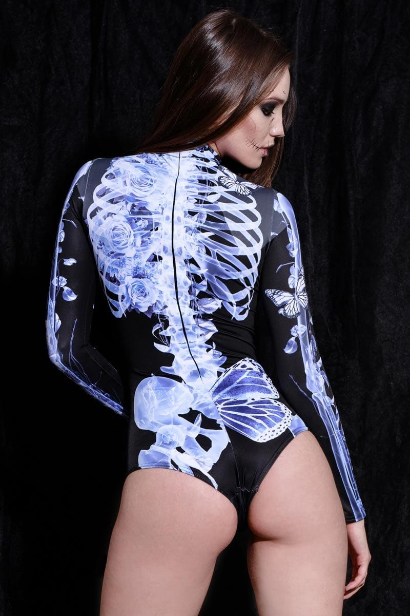 X-Ray Skeleton Long Sleeve Bodysuit