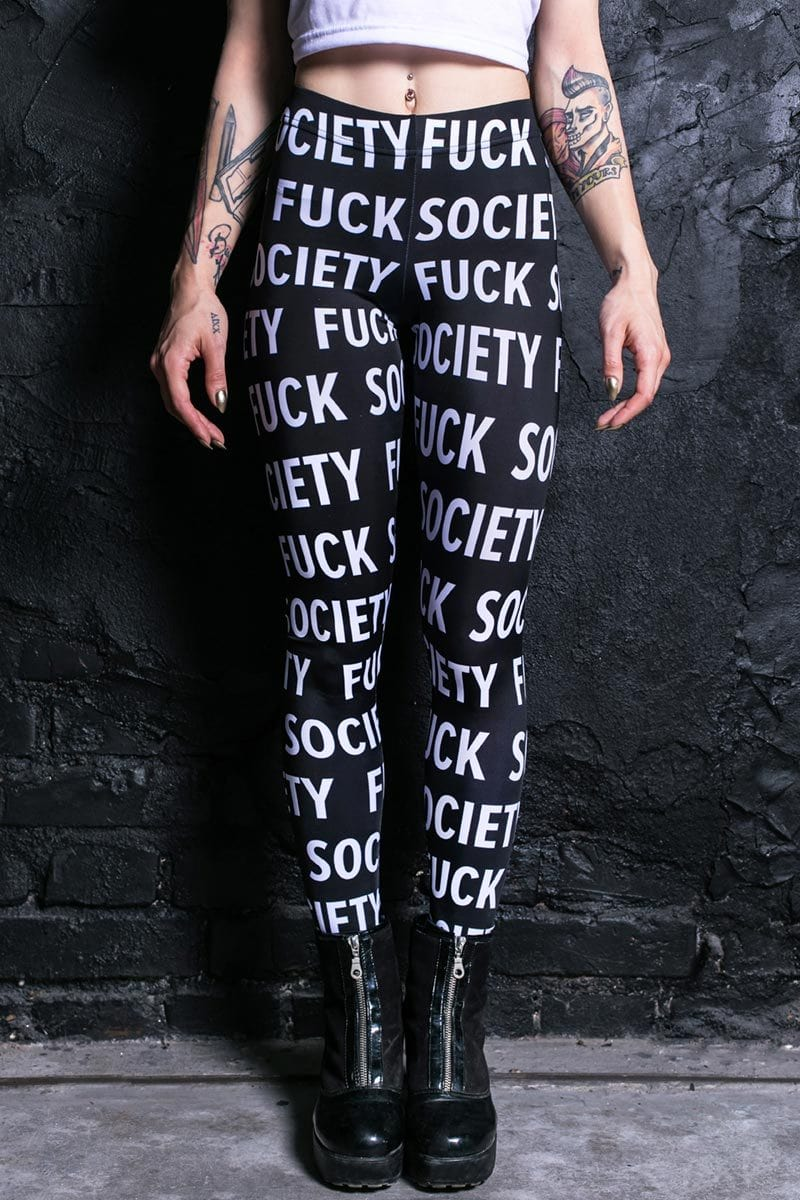 fuck-society-leggings
