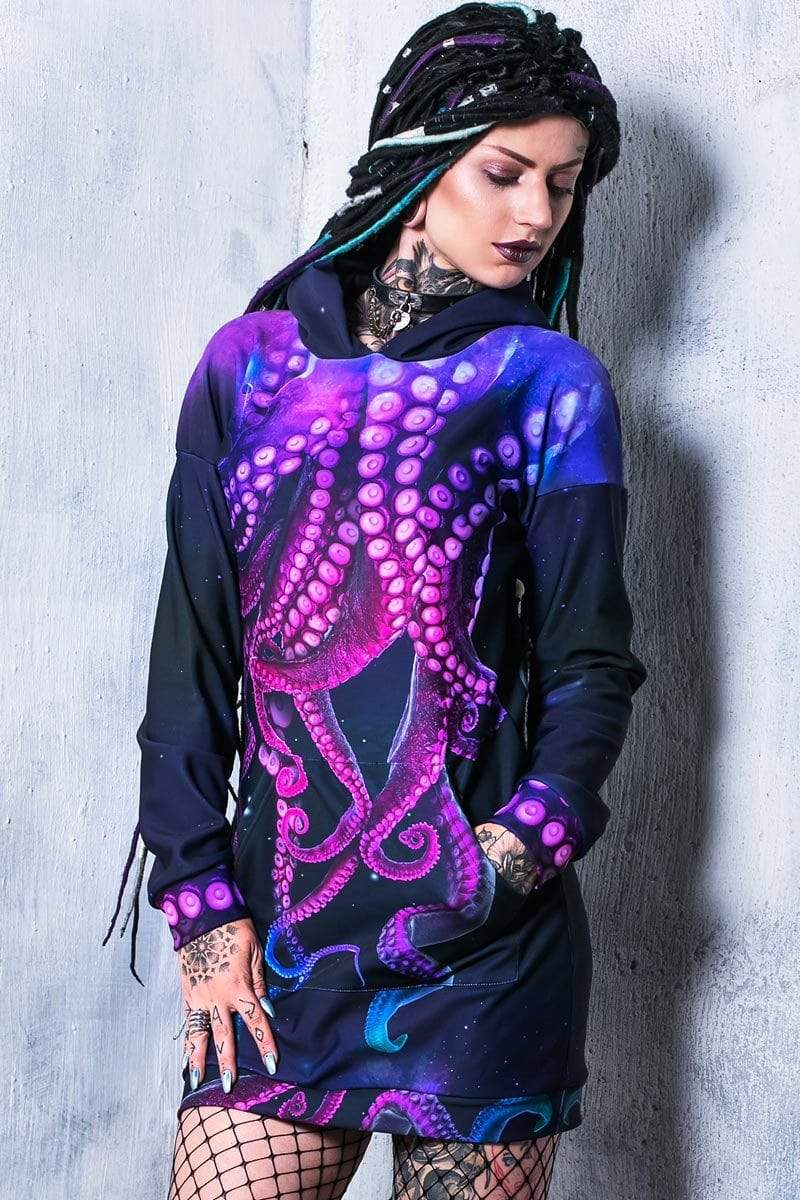 Octopus Hoodie Dress Side View