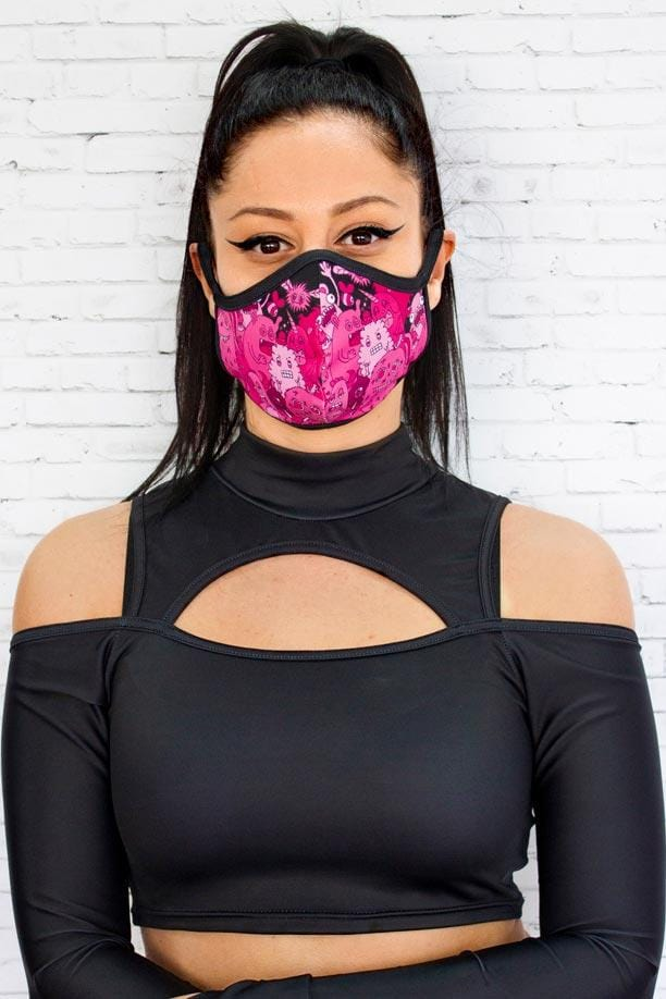 Pink Monsters Reusable Face Mask