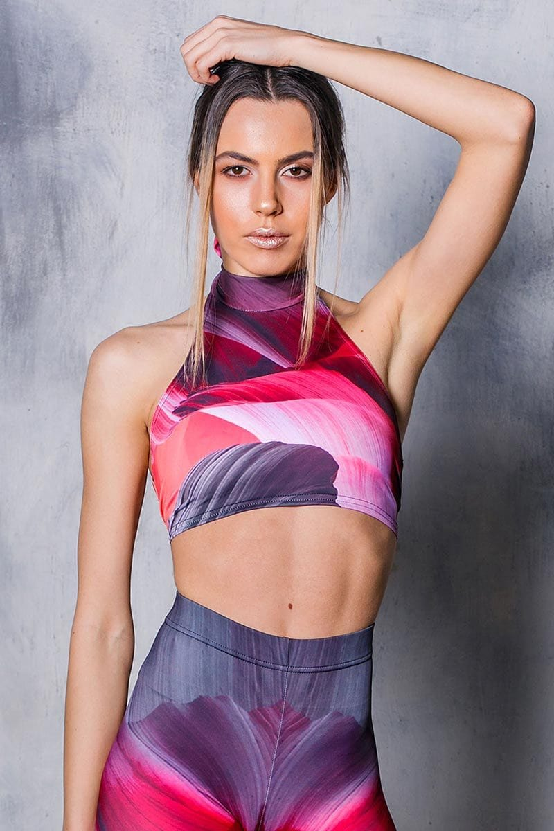 pink-wave-halter-neck-top