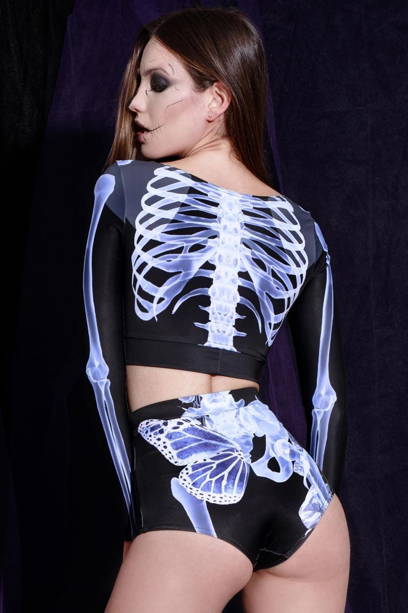 Skeleton Long Sleeve Top
