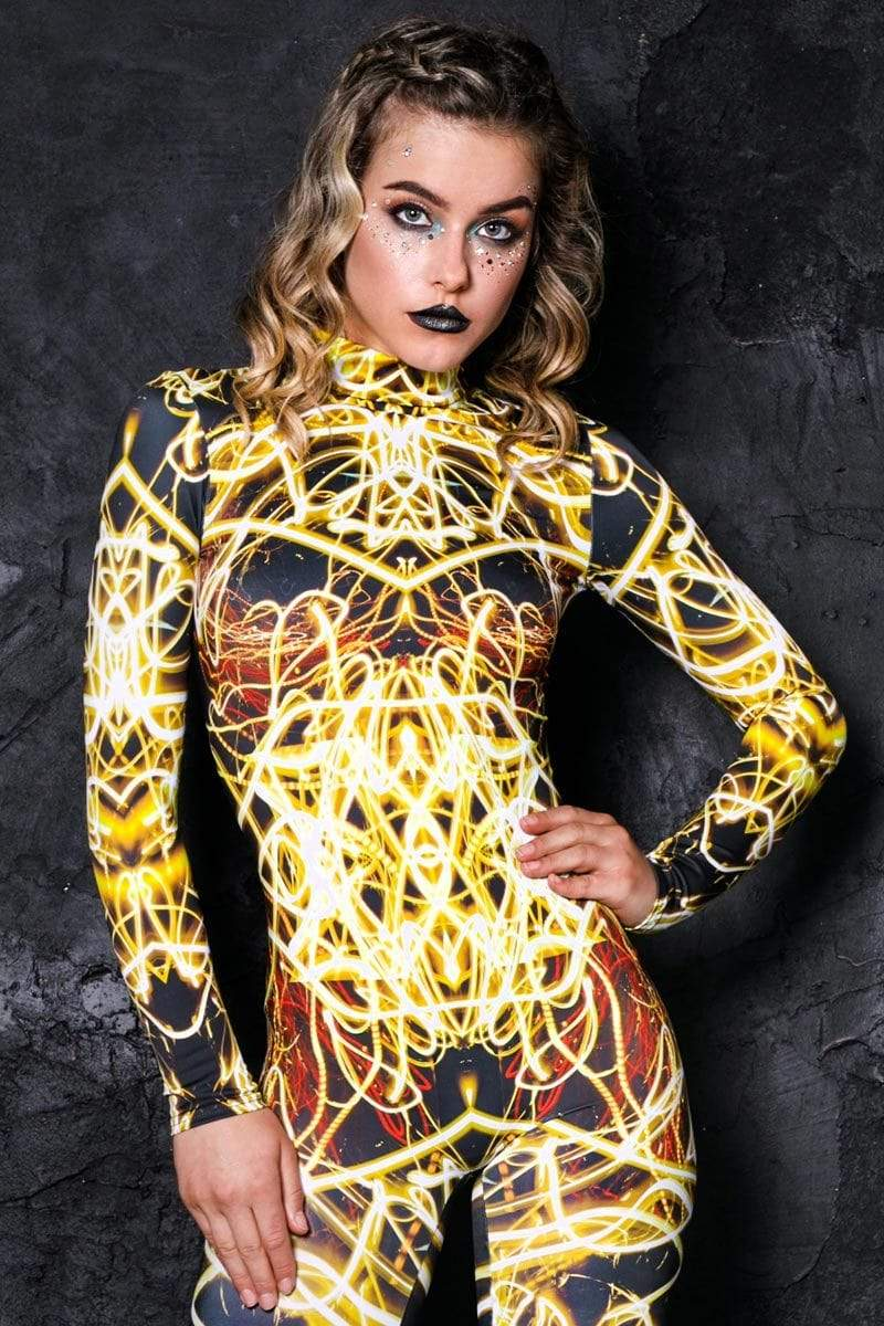 yellow-neon-catsuit