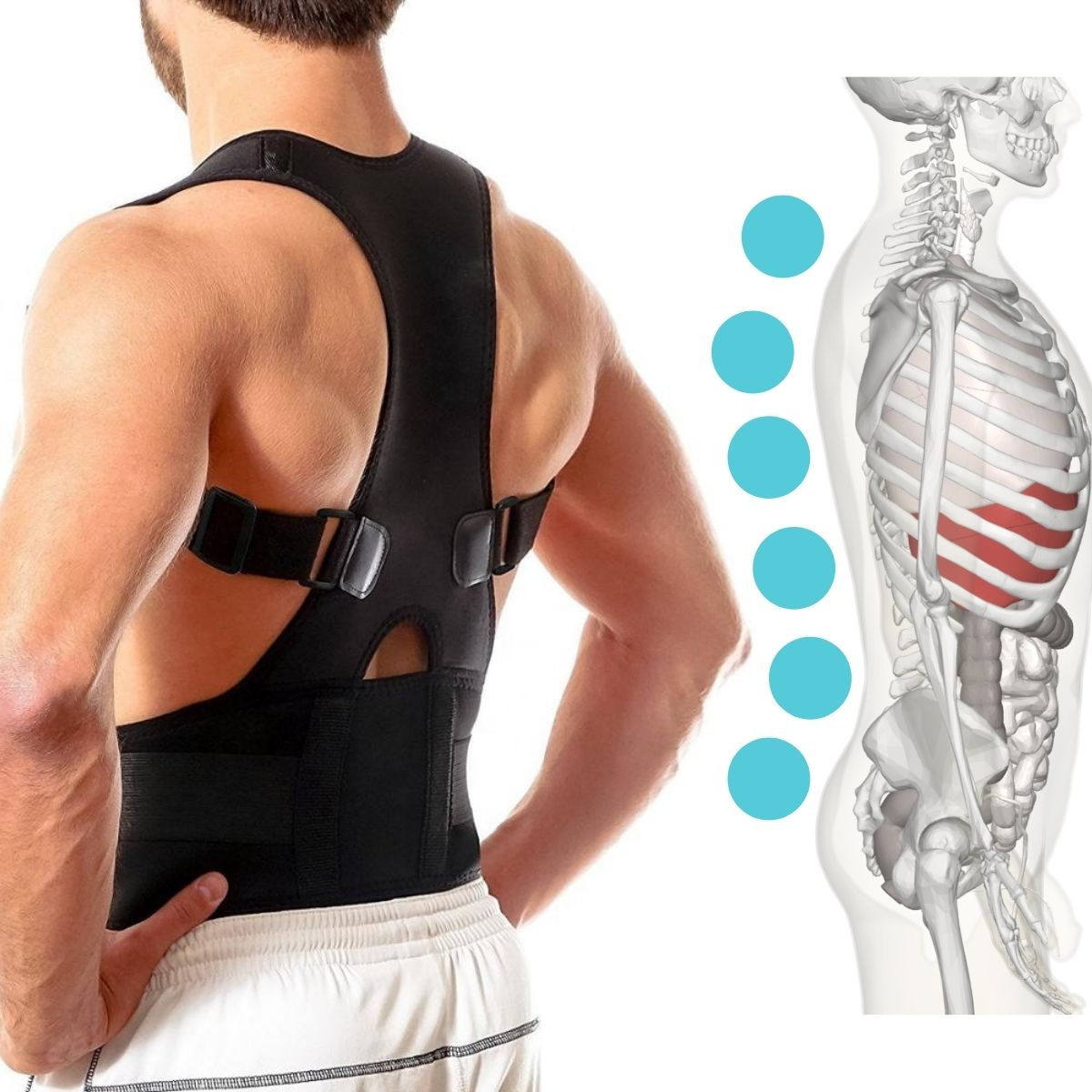 BetterSpine® Full-Back Posture Corrector
