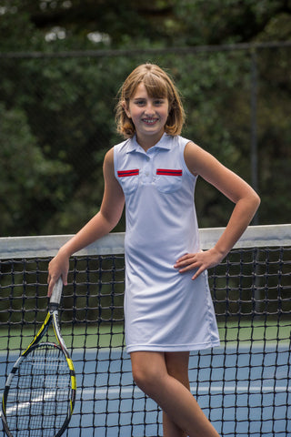 lucy tennis dress white