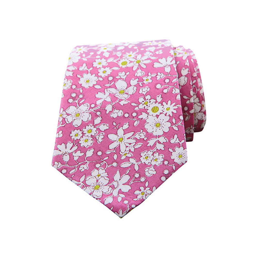Prepster tie pink floral
