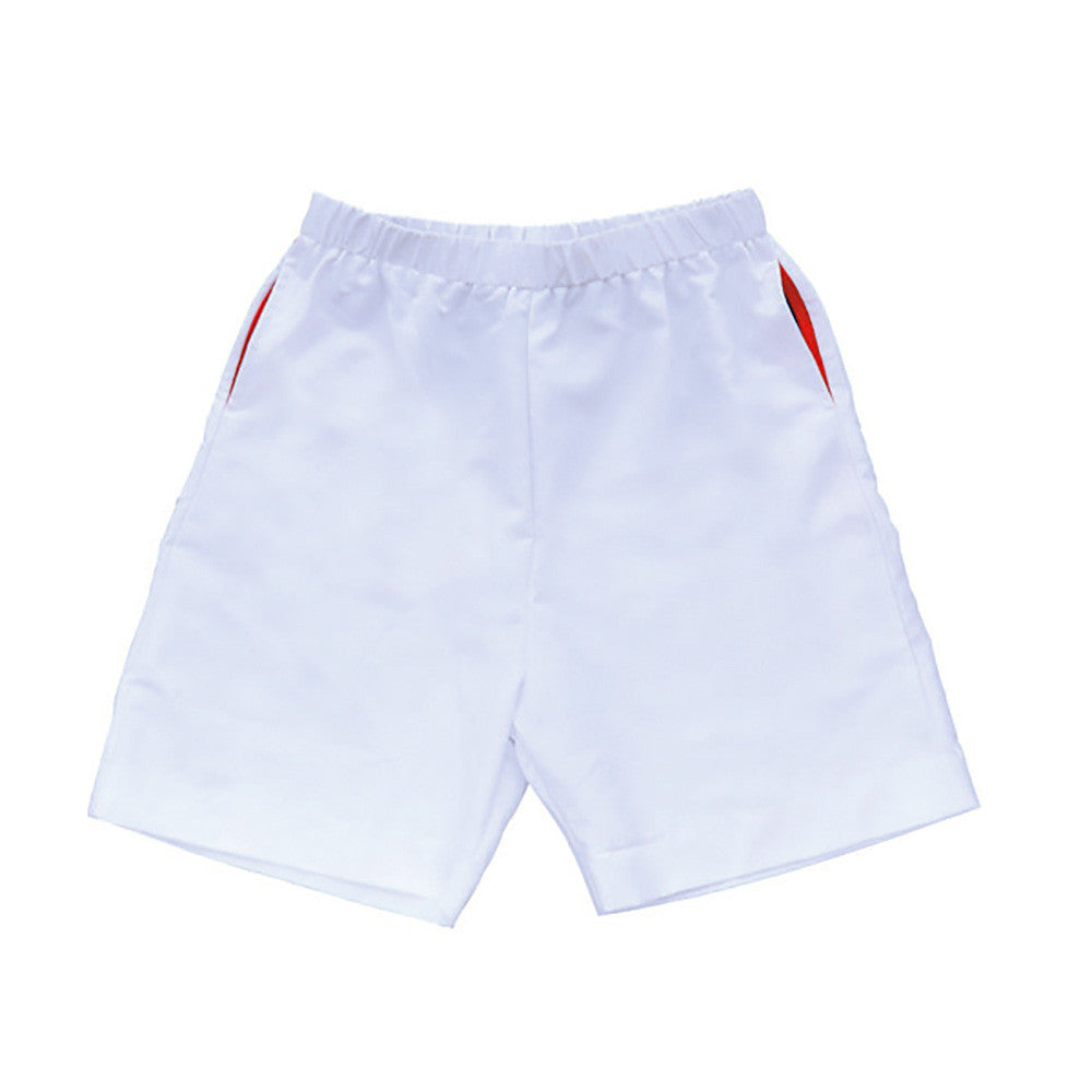 boys performance shorts white