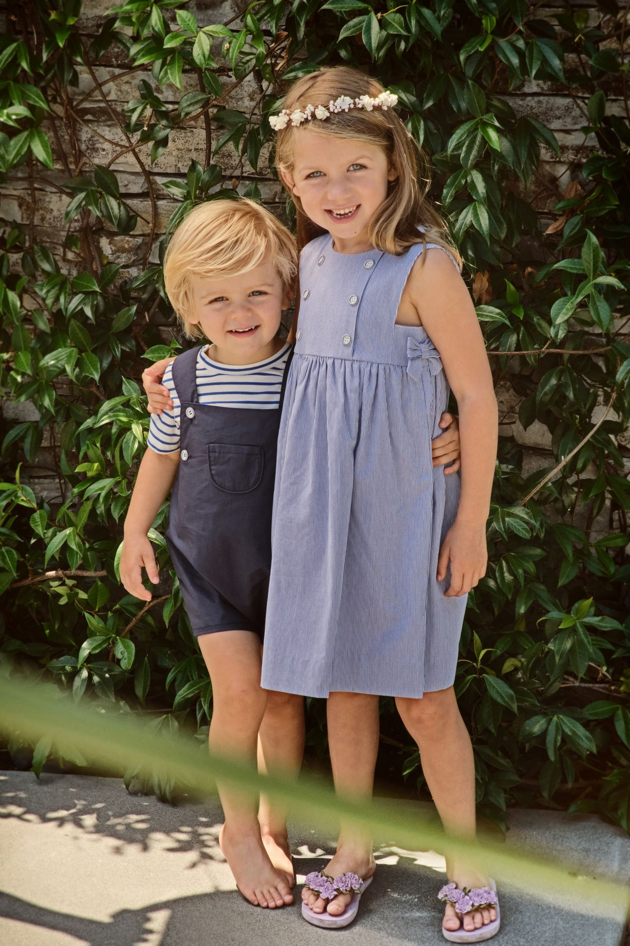 george infant and toddler romper navy cotton poplin