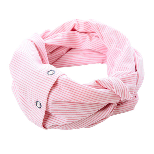 Eternity t-shirt scarf mini pink stripe knit