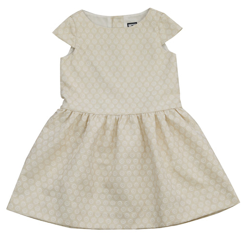 alexa girls drop waist party dress gold damask