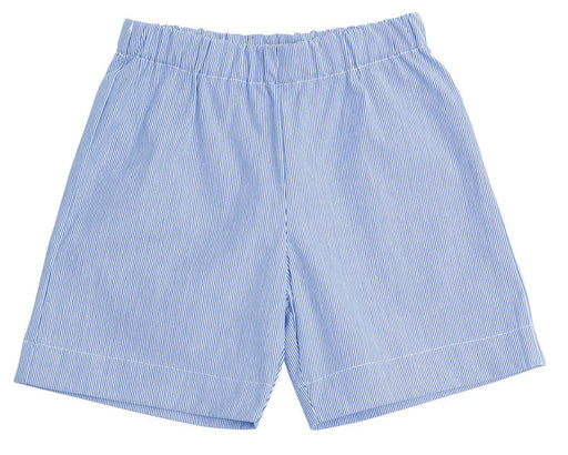 jd pull on shorts navy seersucker stripe