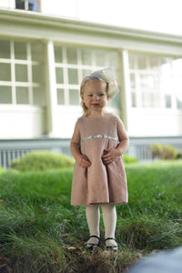 gemma dress ballerina pink tweed