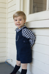 jack classic shortall navy flannel