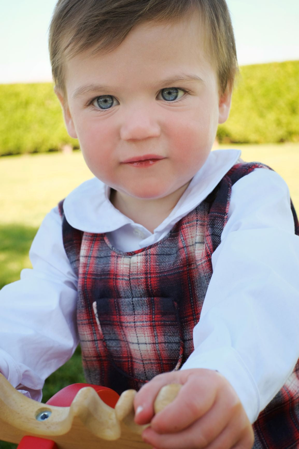 jack classic shortall red plaid