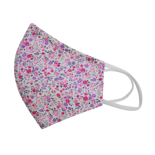 LIBERTY™ EDITION  cotton face mask mini fuschia floral