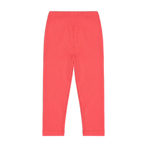 leggings red ribbed knit