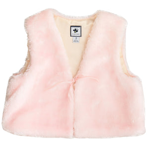 ainsley faux fur vest blush pink