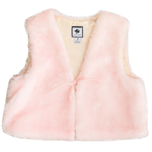 ainsley  girls faux fur vest blush pink