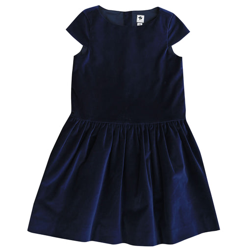 alexa girls drop waist party dress navy velvet