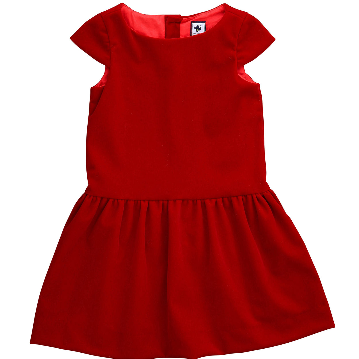 alexa girls drop waist dress red velvet