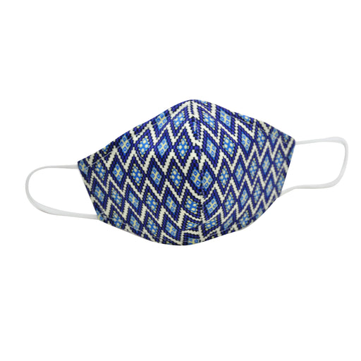 cotton face mask blue chevron stripe