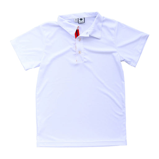boys performance polo white
