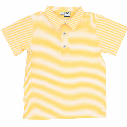 busy bees polo mini yellow stripe knit