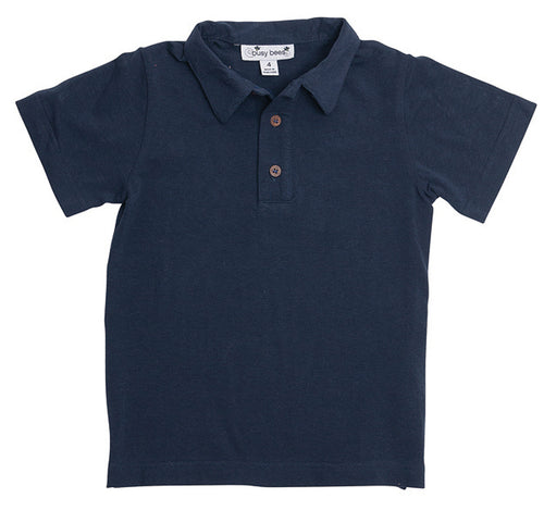 busy bees polo navy knit