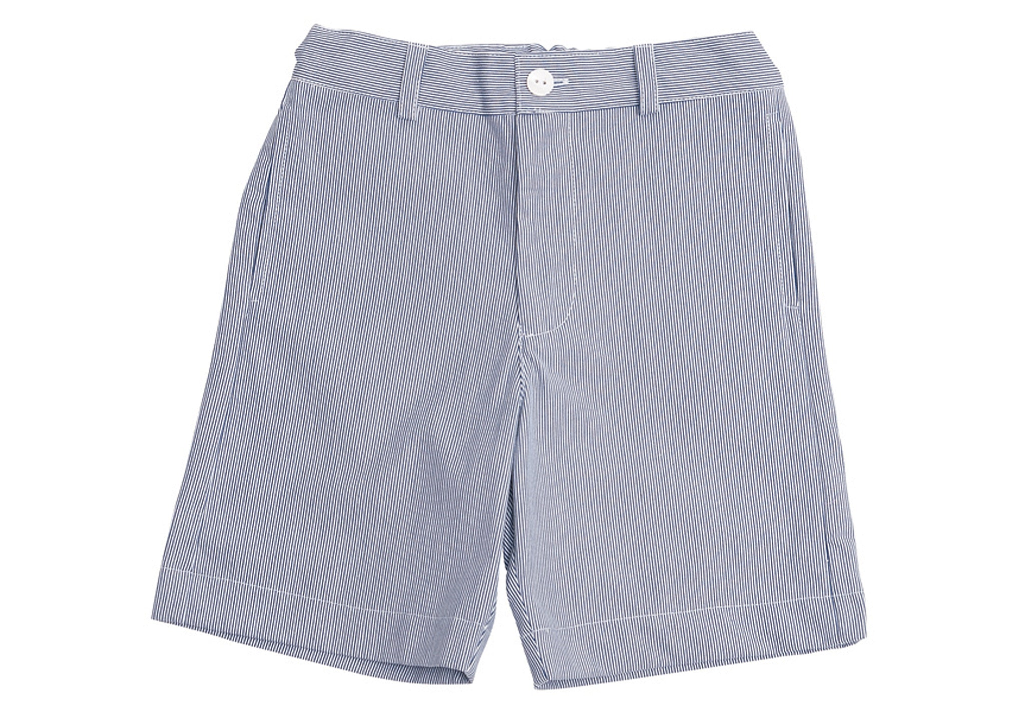 alex flat front shorts navy seersucker