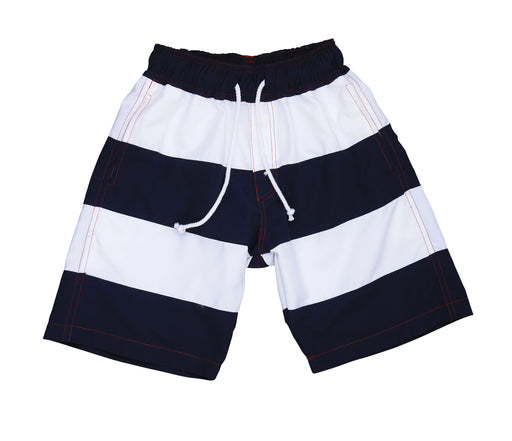 boys' chris board shorts navy white colorblock