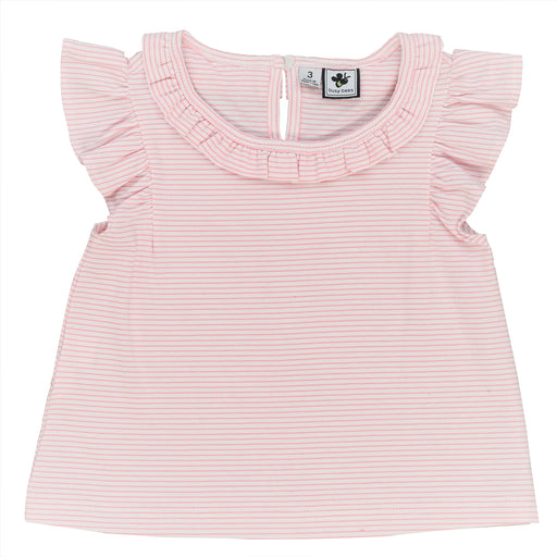 infant and girls' colette knit top light pink stripe