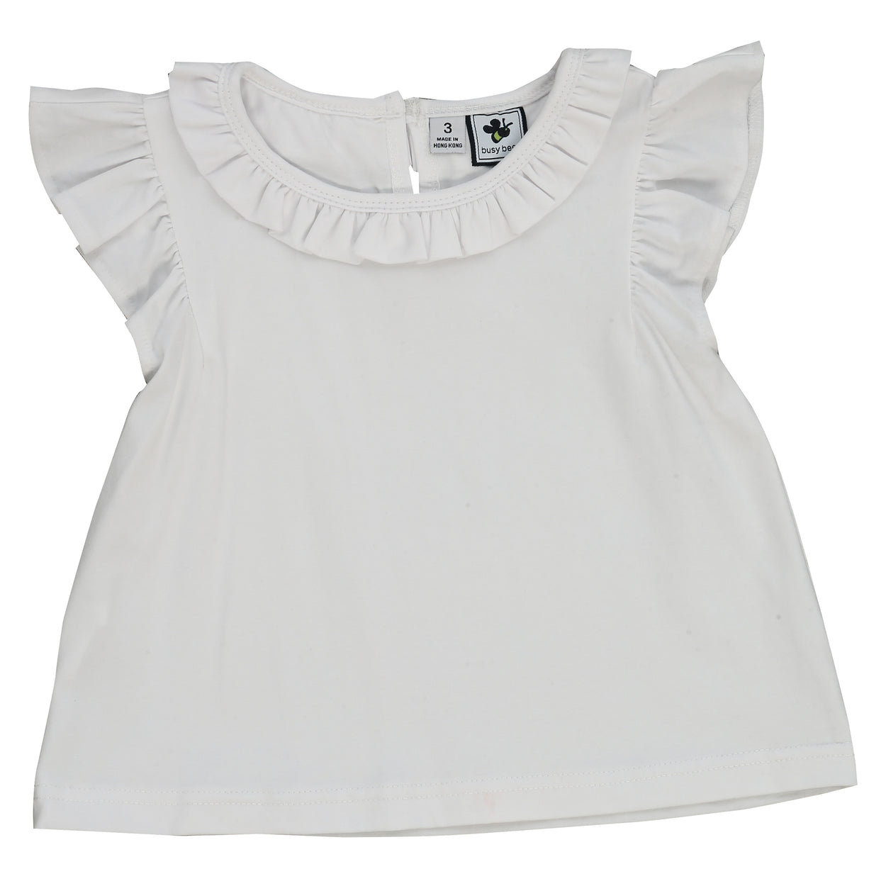 infant and girls' colette top white knit