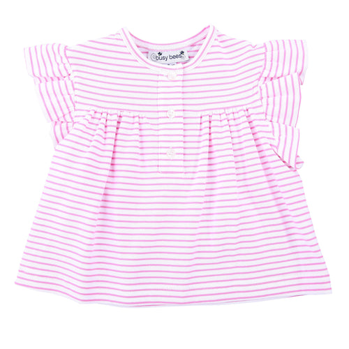 pink knit stripe