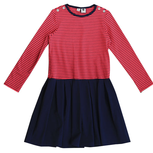 francesca dropwaist dress pink navy stripe