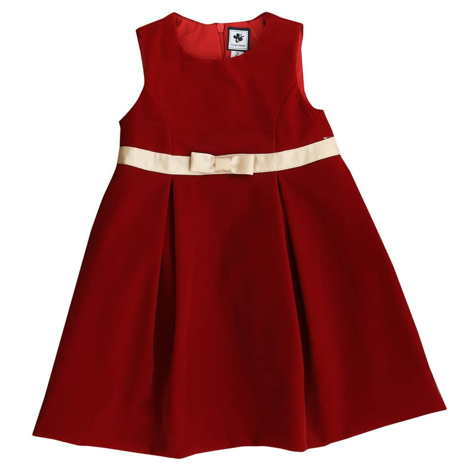 gemma girls party dress red velvet