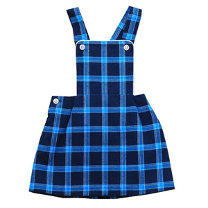 gia bib jumper blue plaid