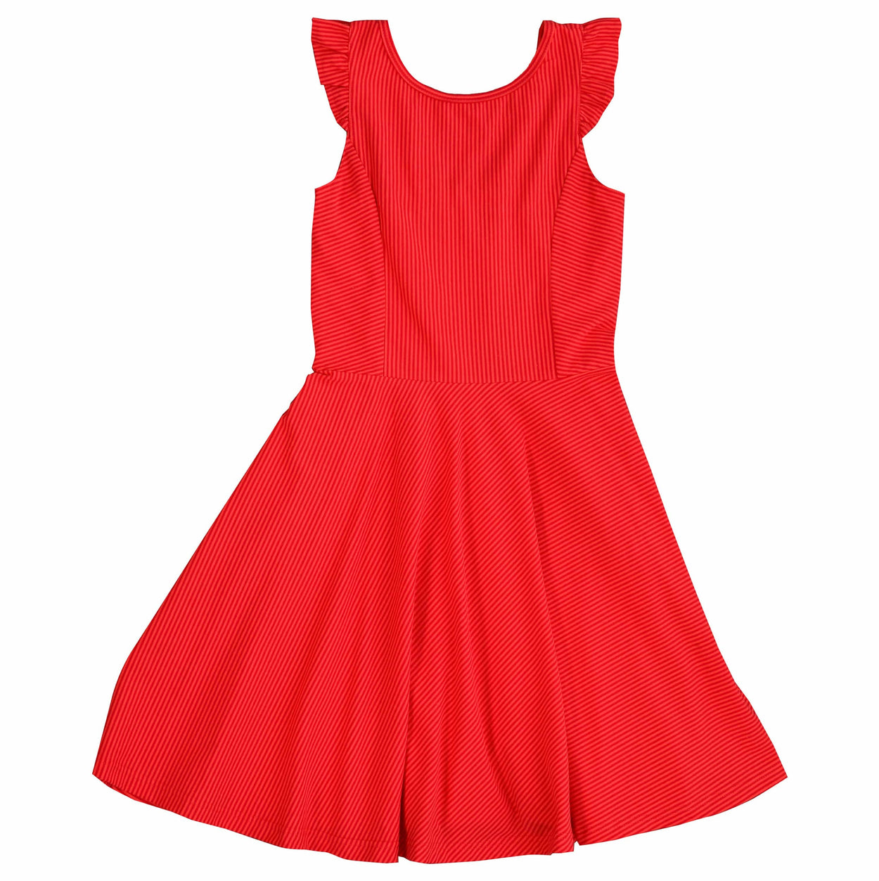 hayden dress coral red stripe knit