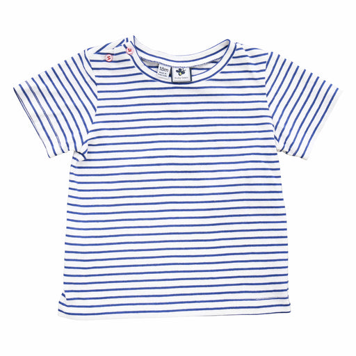 infant and boys' henry button shoulder tee blue stripe