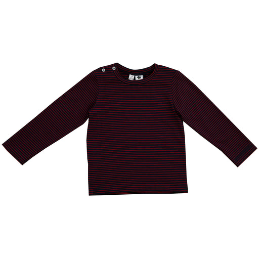 henry boys long sleeve tee navy mini red stripe