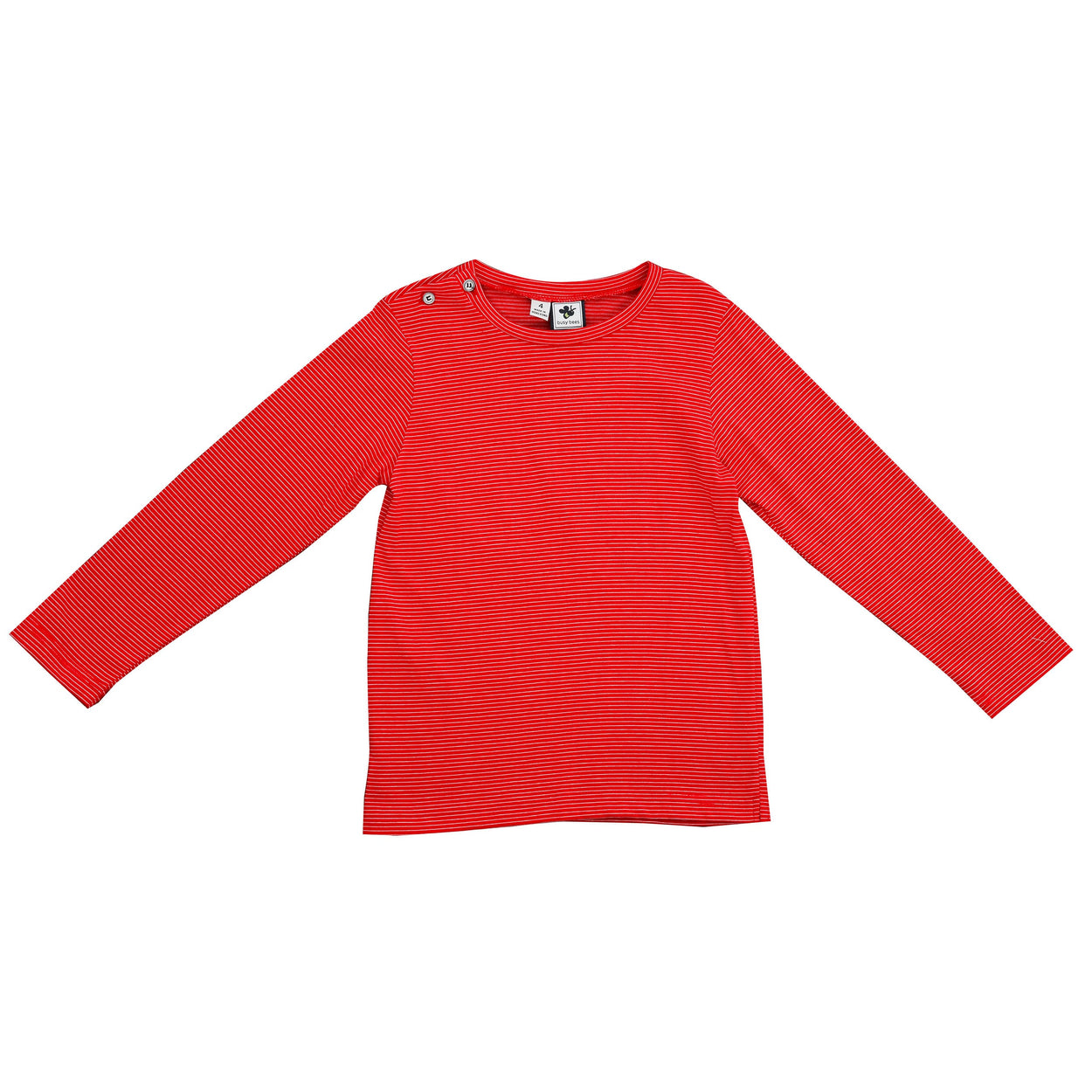 henry boys long sleeve tee red stripe