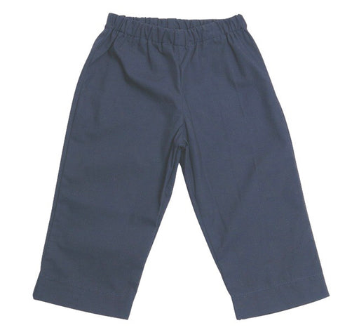 lucas baby boy pant navy cotton poplin