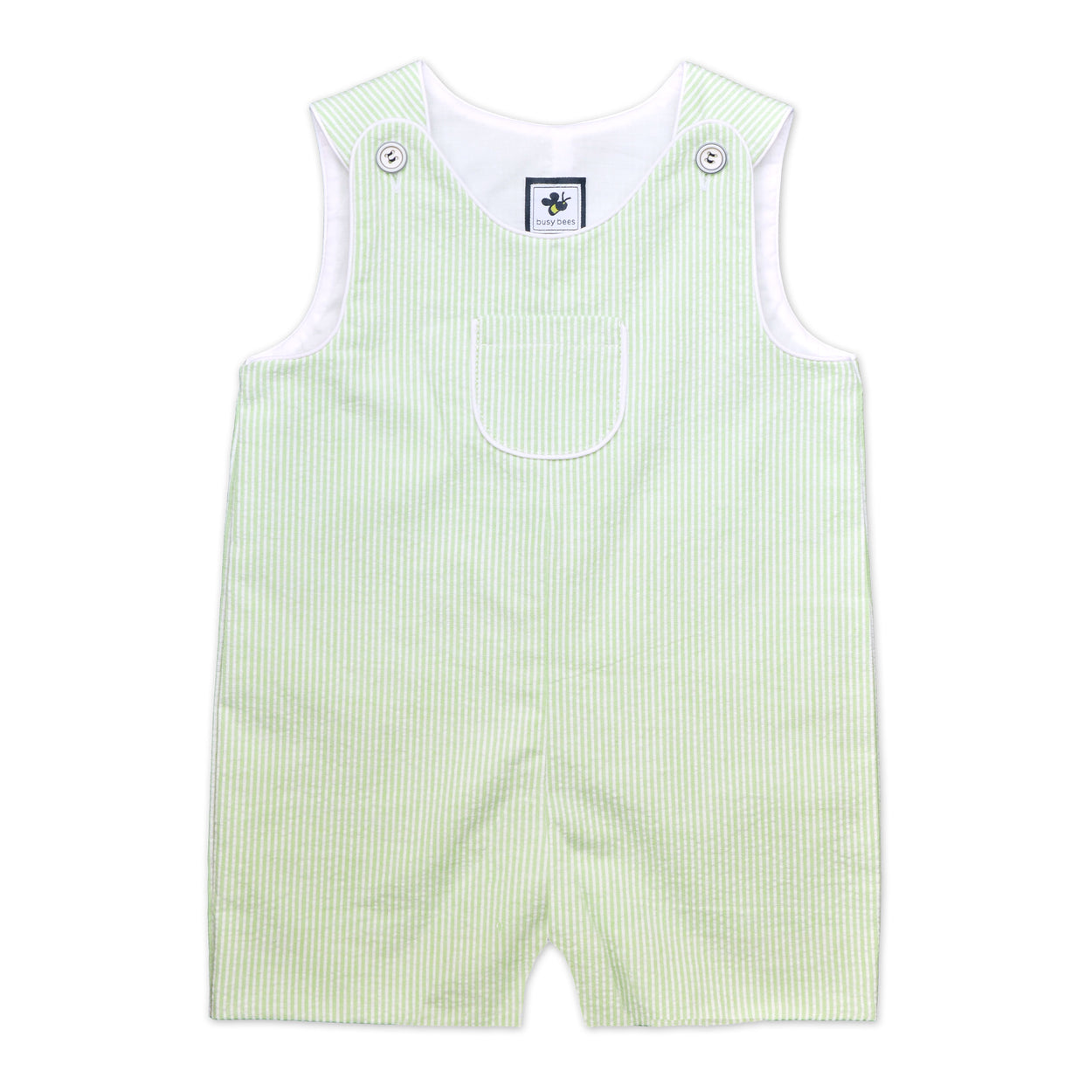 jack classic shortall green seersucker stripe