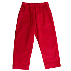 luke pull on pant cranberry corduroy