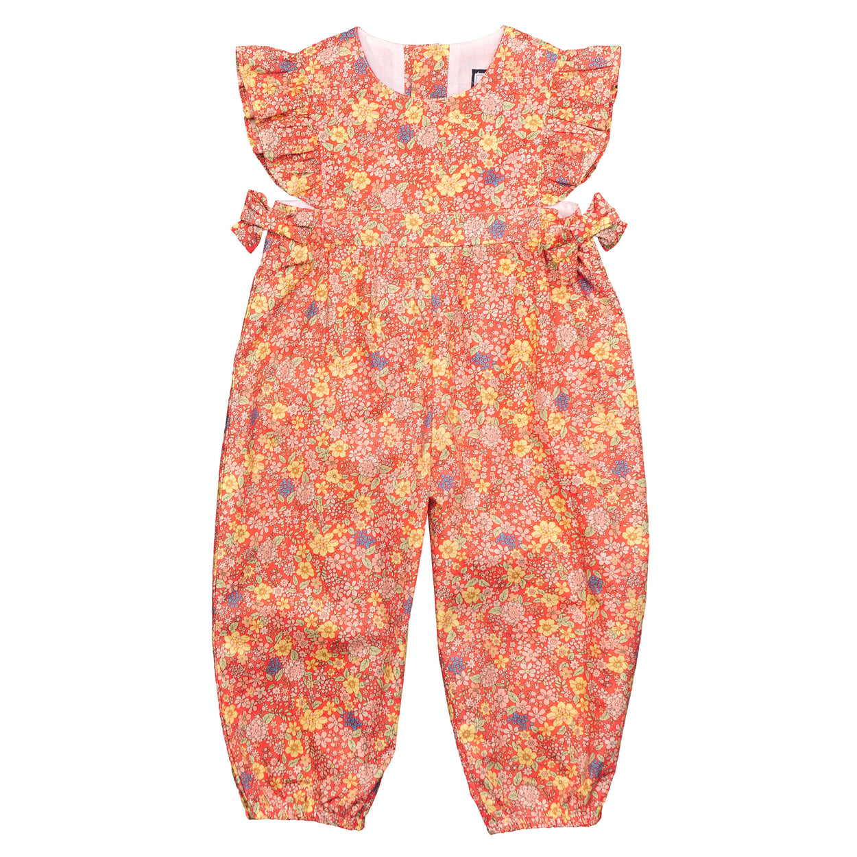 Margo bubble cuff romper summer floral