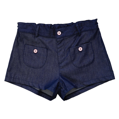 miss shannon shorts indigo denim stretch