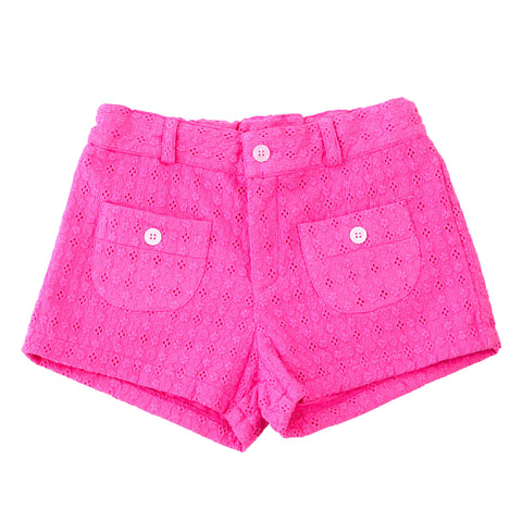 miss shannon shorts pink eyelet
