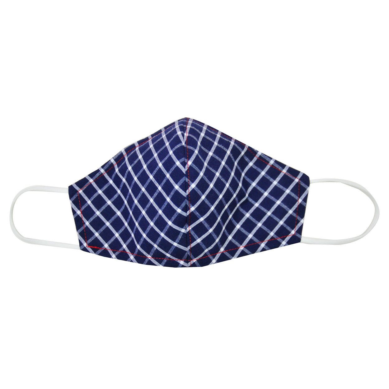 cotton face mask big navy check