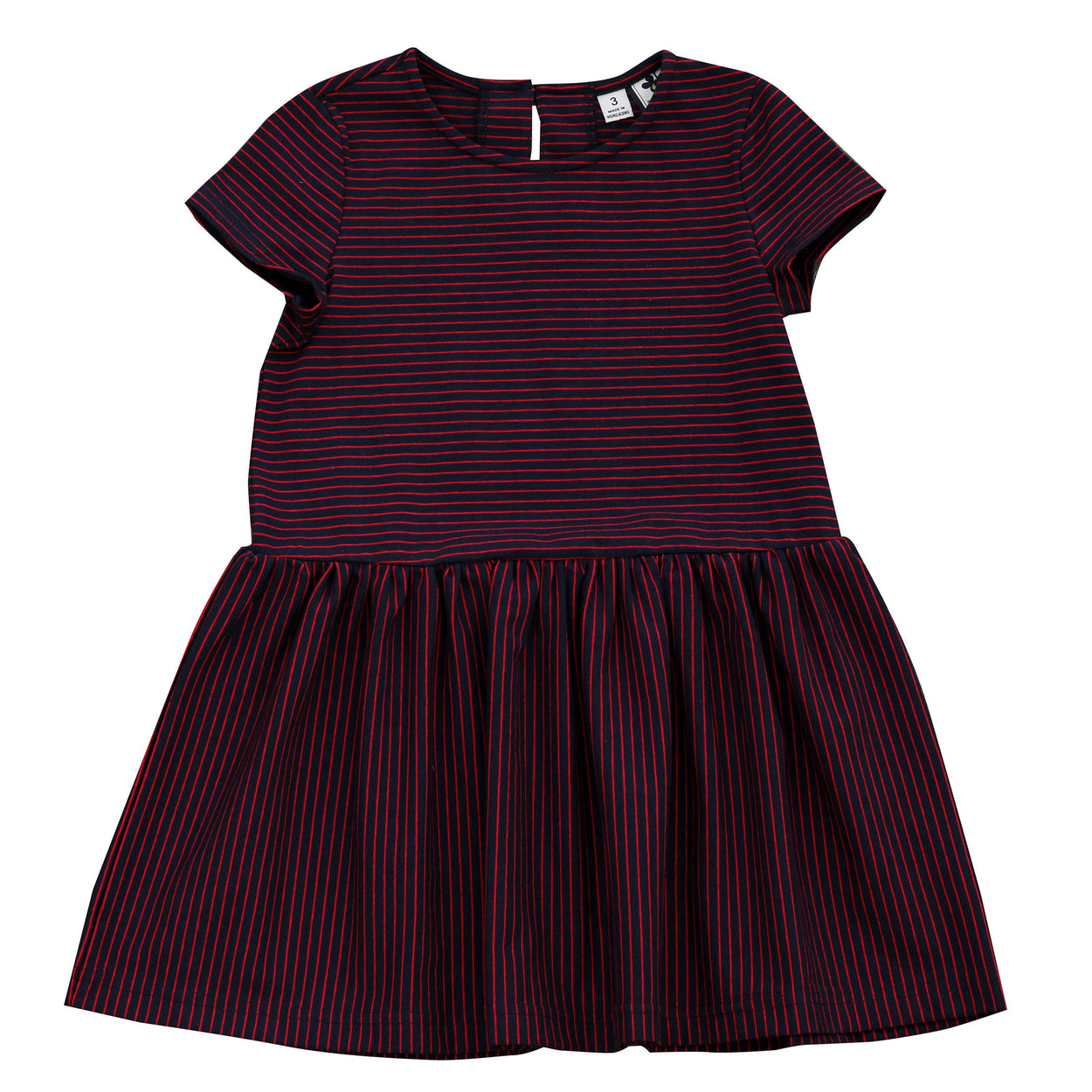 palmer dropwaist dress mini red navy stripe